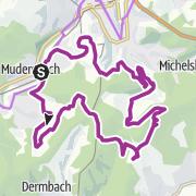 """Karte / Radtour """"Bergbau per Bike"""""""