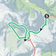 "Map / Neunerspitze: Alpintour ""Somnium (7a)"", Fanes"
