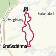 Karte / Bergbauhistorische Wanderung Freiberger Nordrevier