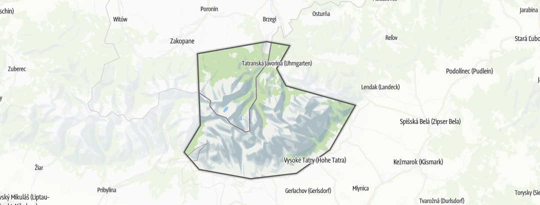 Map / Vysoké Tatry