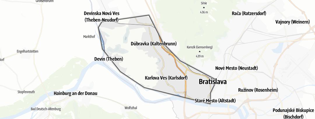 Map / Devínske Karpaty