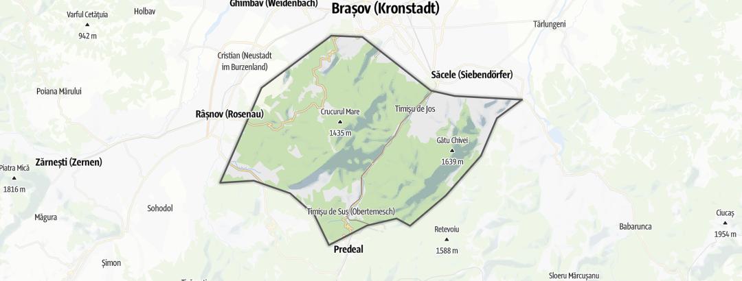Map / Mountain biking trails in Munţii Bârsei