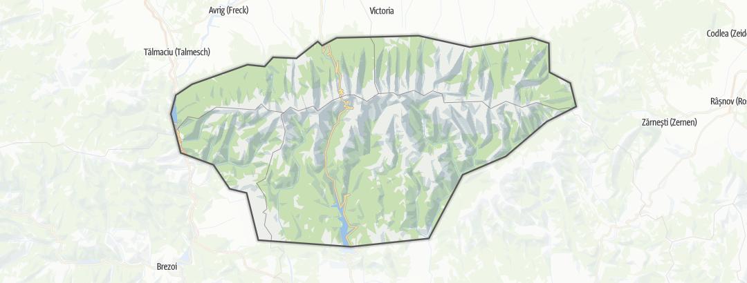 Map / Munţii Făgăraş