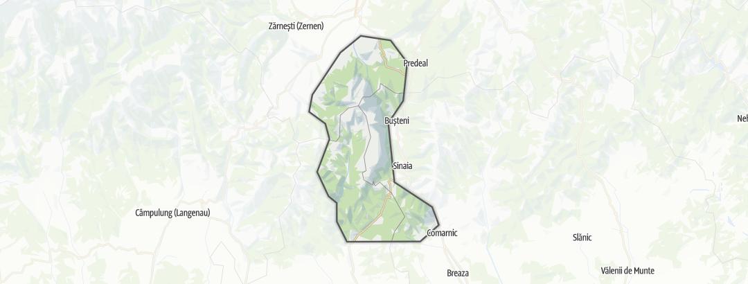 Map / Munţii Bucegi