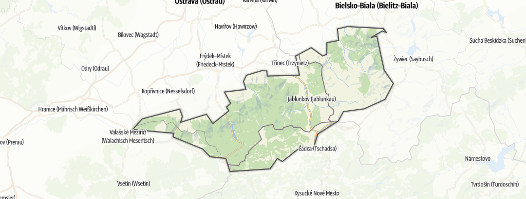 Map / Moravskoslezské Beskydy