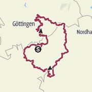 Karte / Eichsfeldwanderweg - Wandern im Eichsfeld - Thüringen