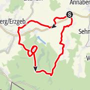 Karte / Schlettau Radtour »Glückauf Hundsmartergust«