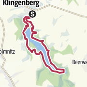 Map / Rundwanderung um die Trinkwassertalsperre Klingenberg