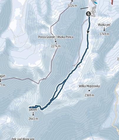 Map / Juliana SkiTour 1a  -Kotovo sedlo (2300 m)