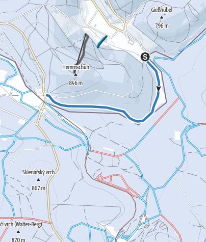 Map / Altenberg / Rehefeld - Skiwanderweg Hemmschuh (S9)