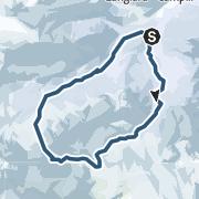 Map / Östliche Puezspitze, Canale Nord