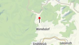 Karte / Sperrungen im Bereich Womelsdorf, Birkelbach, Röspe - Umleitungen beachten
