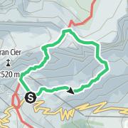 Map / Rampe-Führe (Südwestwand), Sas Ciampac Westlicher Gipfel (2672 m), Dolomiten (Sella)
