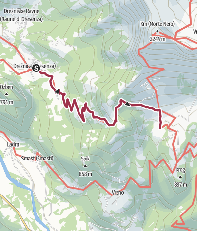 Map / S 04 - Von Drecnica nach Koca na planini Kuhinja