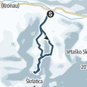 Map / Mali Ponza 2502m,  Martuljek Gruppe - Julische Alpen