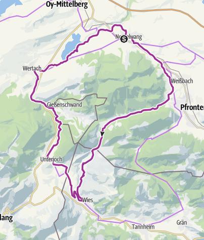 Map / Radrunde ins benachbarte Tannheimer Tal