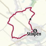 Karte / Stolpen: Wanderung mit Besuch der Burg