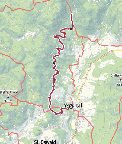 Karte / Panoramaweg Yspertal