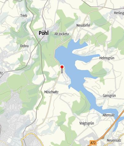 Karte / Talsperre Pöhl: Fahrradverleih am Campingplatz Gunzenberg****