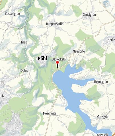 Karte / Talsperre Pöhl: Parkplatz Sperrmauer
