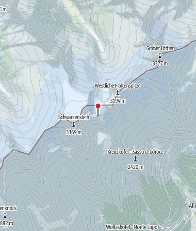 Kaart / Schwarzensteinhütte (Rif. al Sasso Nero)