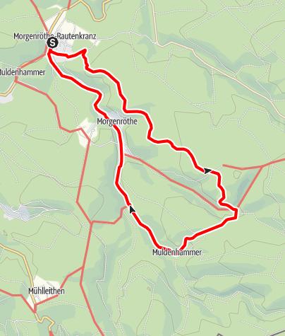 Karte / Rund um Morgenröthe-Rautenkranz