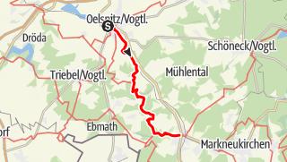 Map / Von Oelsnitz nach Adorf