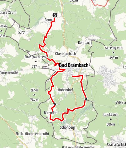 Karte / Von Raun nach Bad Brambach
