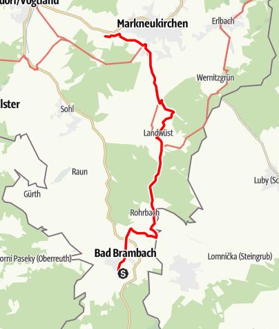 Map / Von Bad Brambach nach Siebenbrunn