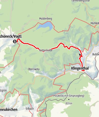 Mapa / Von Schöneck nach Klingenthal