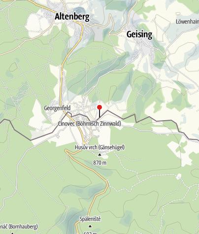 Map / Kutsch,- Schlitten- und Kremserfahrten Zinnwald