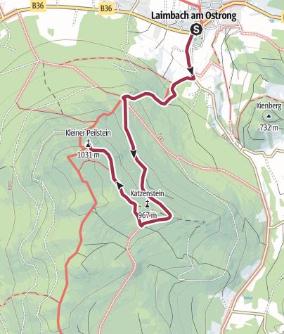 Karte / Peilstein Gipfelerlebnis Laimbach - leichte Strecke