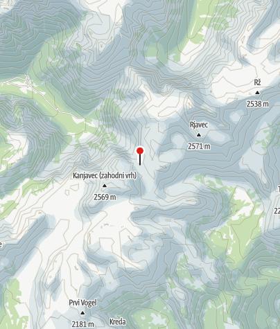 Map / Koča na Doliču (2151 m)