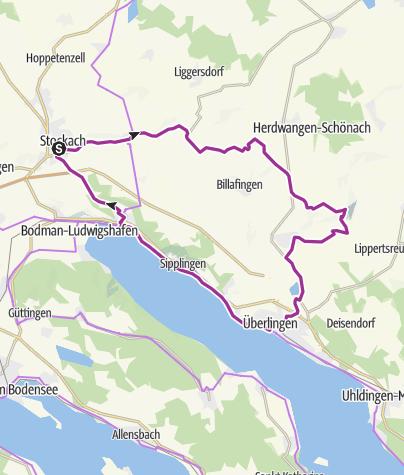 Karte / E-Bike-Tour mit herrlicher Panoramasicht auf Alpen und See