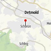 Karte / Jugendherberge Detmold