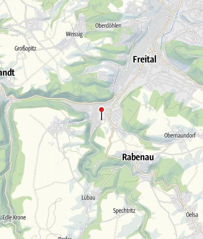 Karte / Weißeritztalbahn Haltepunkt Freital-Coßmannsdorf