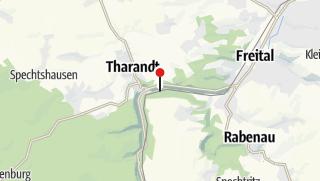 Karte / Bahnhof Tharandt