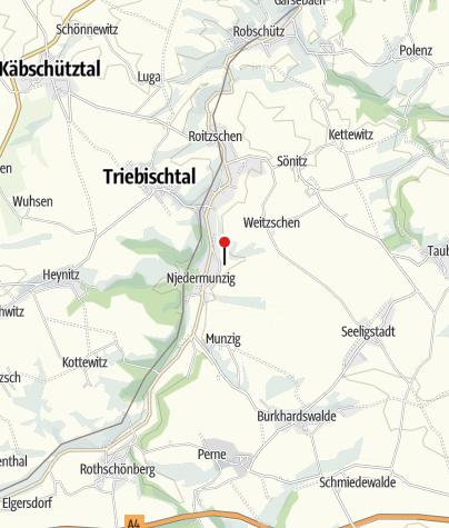 """Karte / """"Altes Kalkbergwerk"""" Miltitz"""
