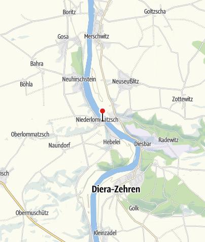 Karte / Elbfähre (Querfahrt) Diesbar - Niederlommatzsch