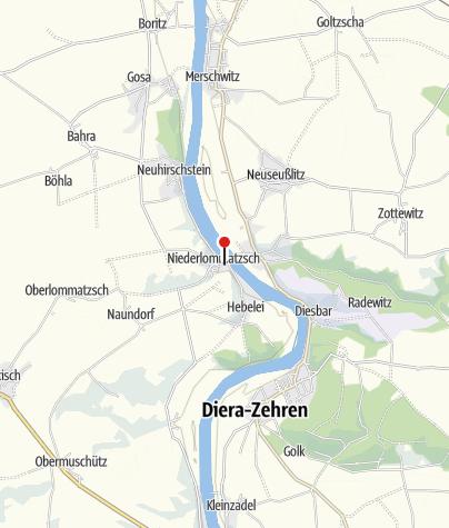 Karte / Elbklause Niederlommatzsch