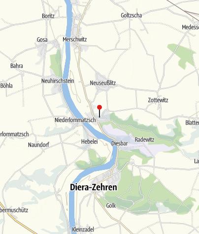 """Karte / Tourist-Information """"Haus des Gastes"""" Diesbar- Seußlitz"""