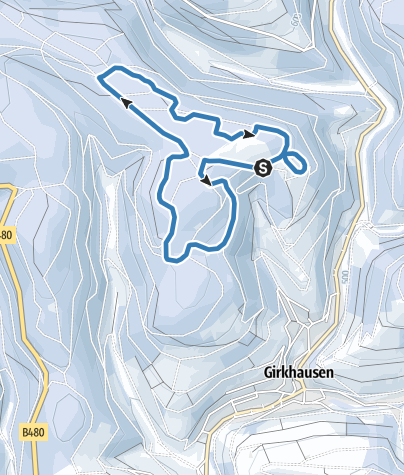Map / Competition route Girkhausen