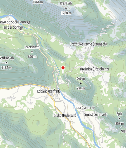 Map / Kamp Koren Kobarid
