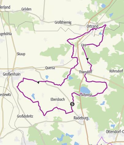Karte / Rundweg Großenhainer Pflege - Auf dem ehemaligen Mühlenweg