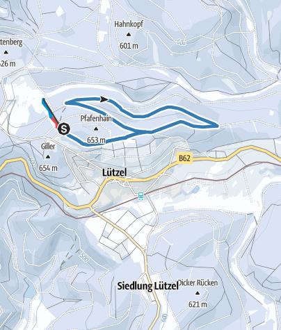 Map / Hilchenbach Lützel blue trail