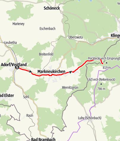 Mapa / Radtour Schwarzbachtal