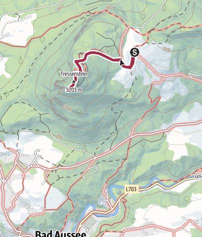 Karte / Aussichtswarte Tressenstein vom Tressensattel